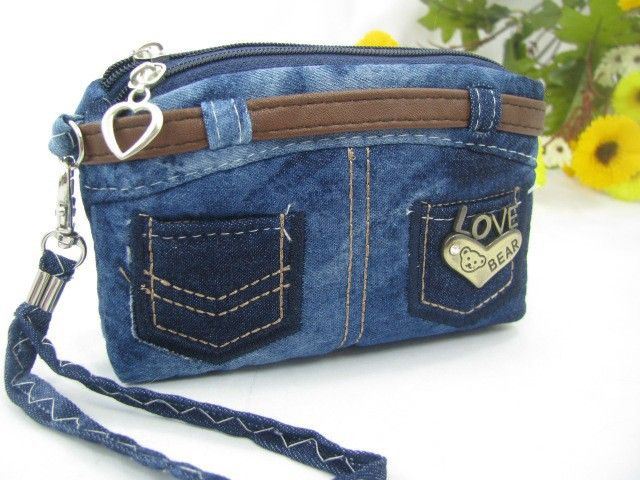Jeans coin purse