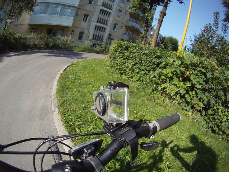 GoPro Bike Mount Improvisation Using Only The Helmet Mount - Demonstration Video & Pictures