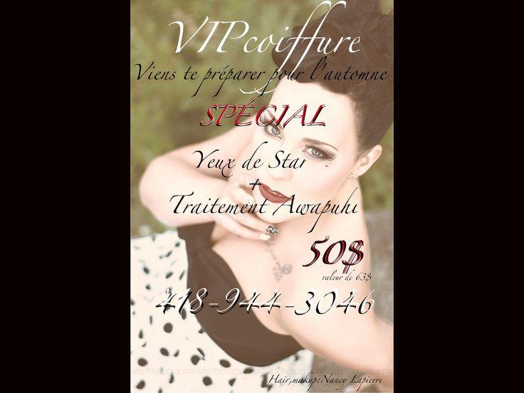 Promo automne,star,coiffure,traitement,Paul Mitchell,Dior,guerlain,facial,vipcoiffure