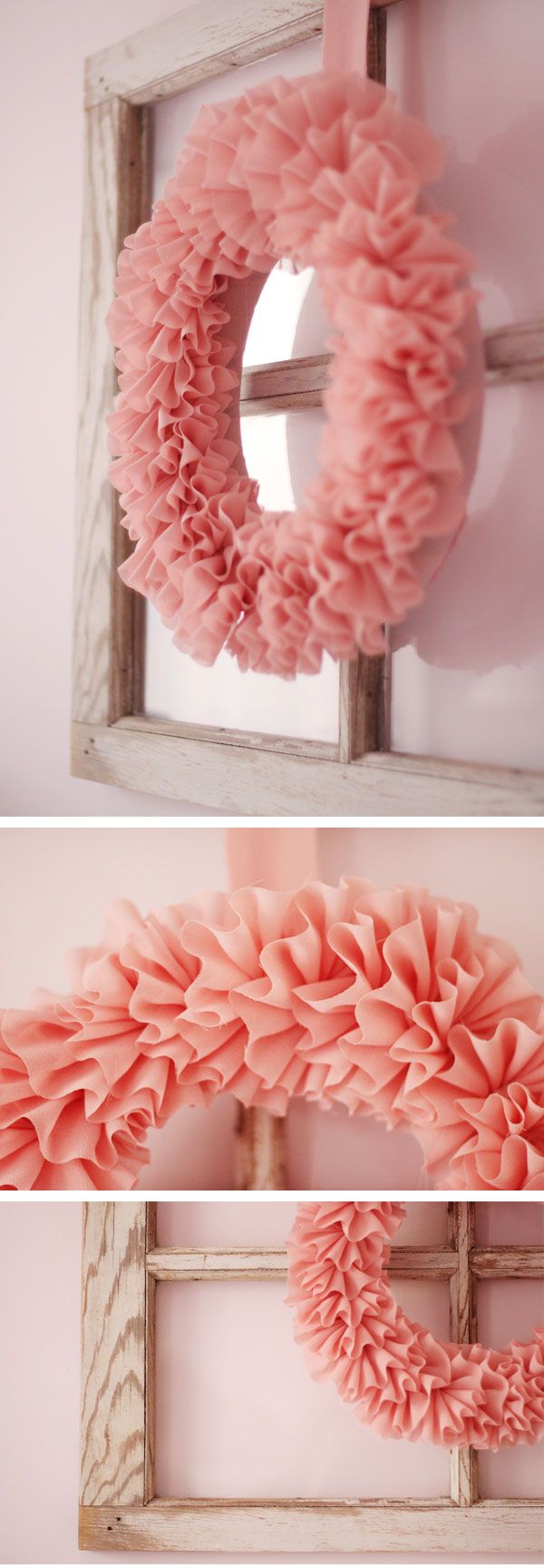 Ruffled wreath.  Soft and pretty.