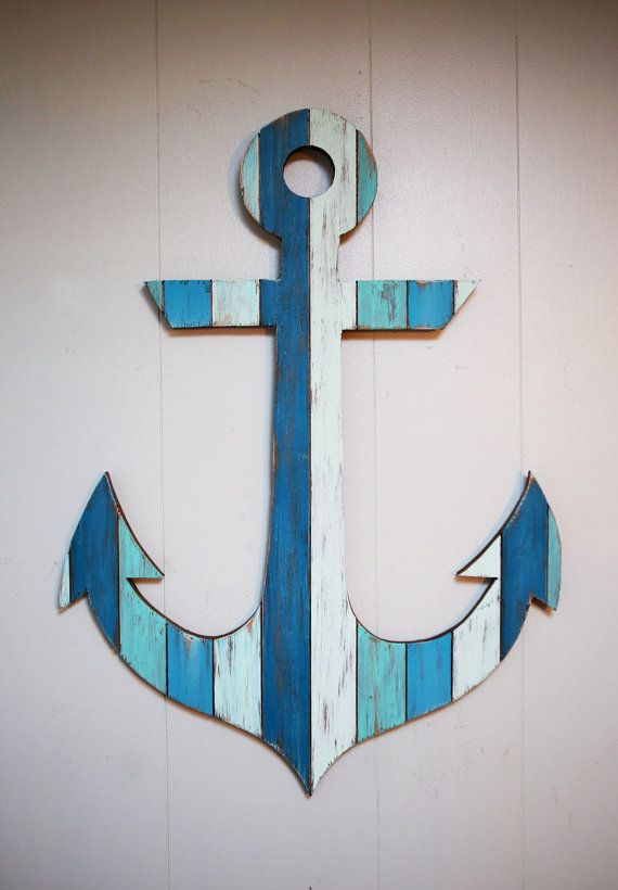 Hey, I found this really awesome Etsy listing at https://www.etsy.com/listing/224401119/painted-anchor-wall-art-29