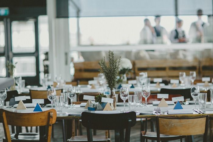Wedding reception at the Bar at the End of the Wharf, Sydney | Photo Credit: Nina Claire Photographer - @ninaclairegibbs
