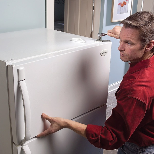 Straighten a crooked fridge door in less than five minutes. You save money too by stopping cool air leaks around the door.