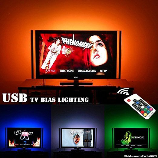MXTC TV LED Bias Lighting USB Backlights for 60 to 75 Inch SAMSUNG, TCL, VIZIO, LG, SONY, SHARP, HISENSE Flat & Curved TV Wall Mount Stand Home Movie Theater Decor.
