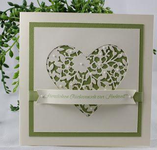 Der kleine Stempelgarten: Hochzeitskarte