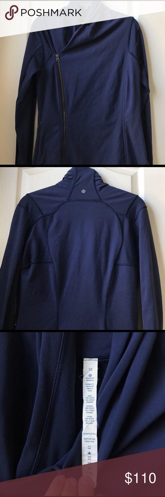 WEEKEND SALE - Lululemon Bhakti Jacket Deep Navy EUC, just too big for me, happy to sell for less via 🅿️🅿️! lululemon athletica Jackets & Coats