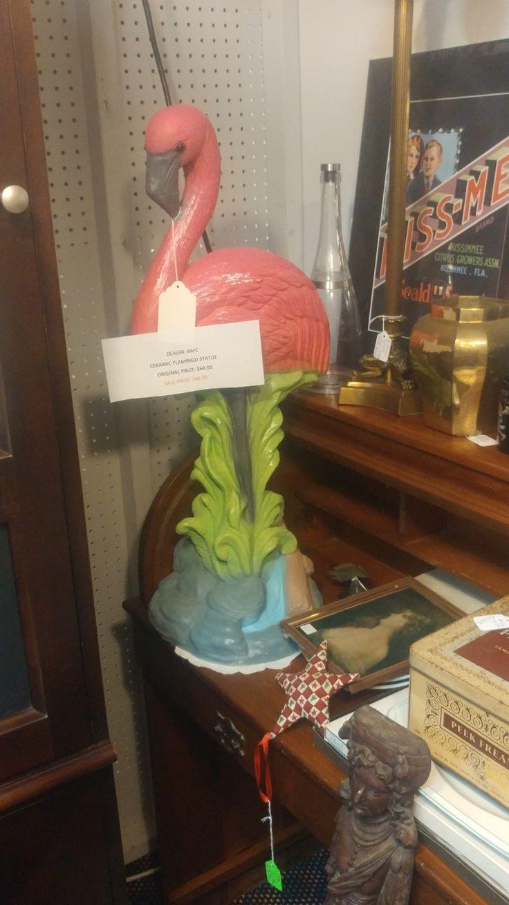 Ceramic Flamingo at Oviedo Antique Mall Oviedo, FL   Flamingos ...