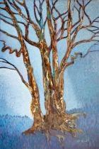 "Beautiful art in the Asheville region ... Debbie Arnold, Boone, Winter Trees, 36"" x 24"""