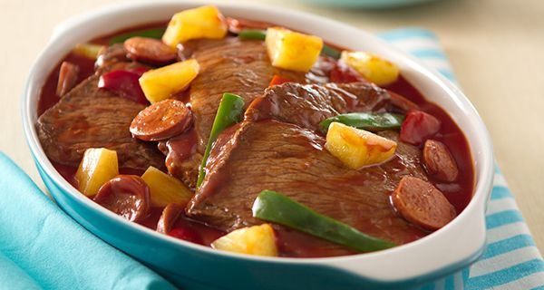 Beef and Sausage Casserole | Del Monte Philippines http://www.delmonte.ph/kitchenomics/recipe/beef-and-sausage-casserole