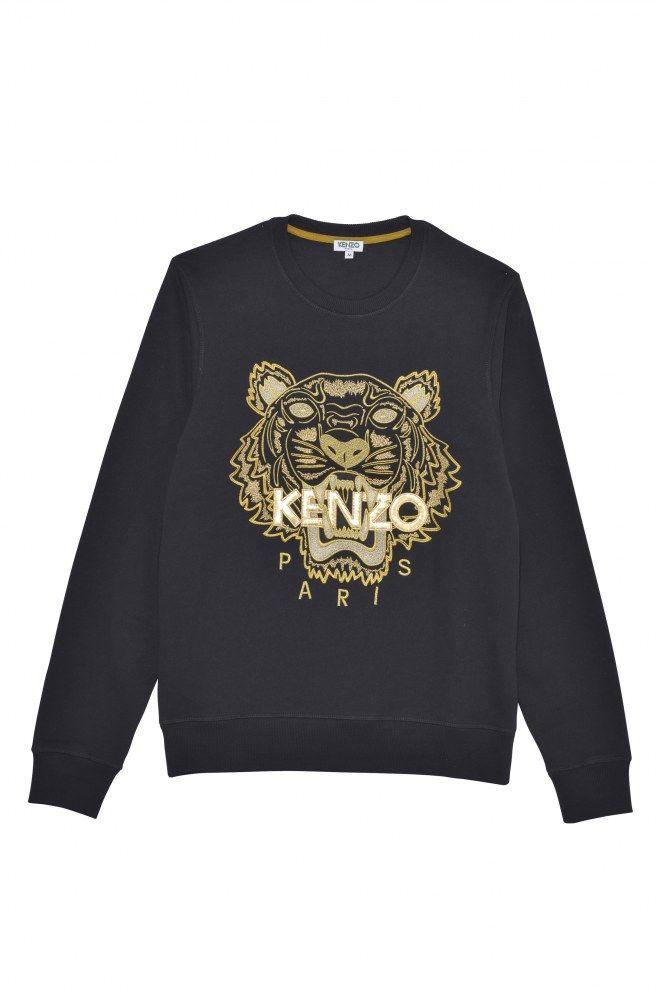 Un sweat bien chaud pour l'hiver de la marque Kenzo.  Sweat 'Tiger' - Kenzo, 195 €