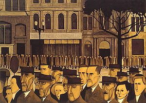 """John Brack was an Australian painter, and a member of the Antipodeans group. According to one critic, Brack's early works captured the idiosyncrasies of their time """"more powerfully and succinctly than any Australian artist before or since."""
