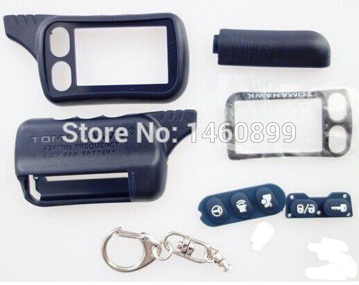 TZ 9010 Case Brelok Z Tworzywa Sztucznego Pokrywa dla 2 Drożny System Alarmu Samochodowego Pilota Klucza Łańcucha Tomahawk TZ-9010, TZ9010/TZ9030, TZ 9030, TZ-9030