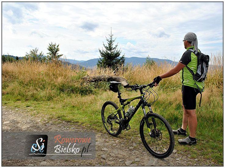The blue trail to the top Gaiki in the Small Beskid Mountains. Link: http://rowerowe-bielsko.pl/turystyka-rowerowa/wycieczki/2005/25062005/