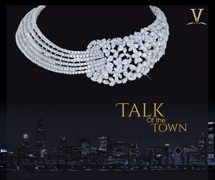 Be the charmer at every affair with this unique and debonair diamond choker. #TalkOfTheTown