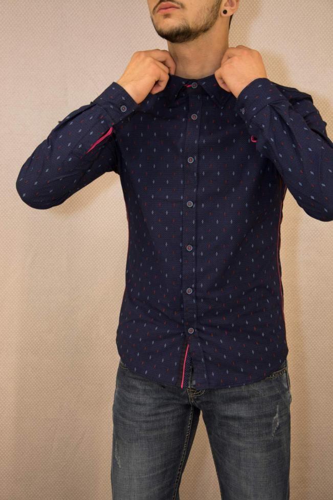 Ανδρικό πουκάμισο slim fit  POUK-1655  Πουκάμισα > Άνδρας