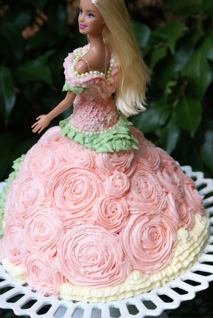 Как украсить торт в виде куклы фото