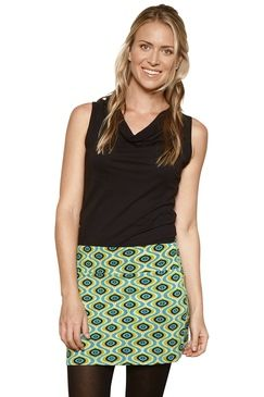 Stretch Mini Skirt Affro Green