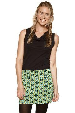 Stretch Mini Skirt Affro Green