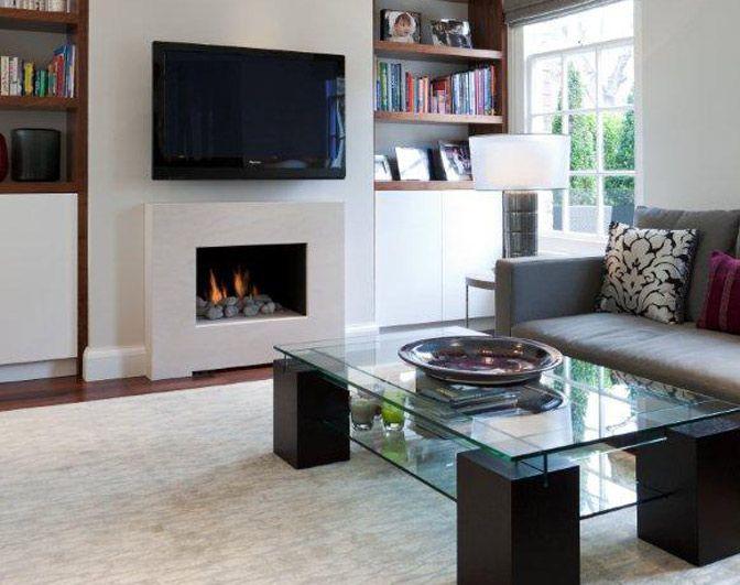 Modern Simple Gas Fireplace