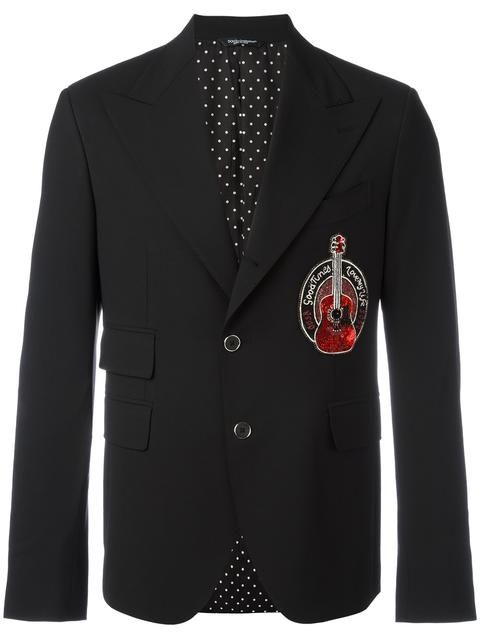 DOLCE & GABBANA Guitar Patch Blazer. #dolcegabbana #cloth #blazer