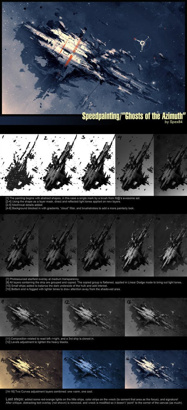 Speedpainting step-by-step by Spex84 on deviantART