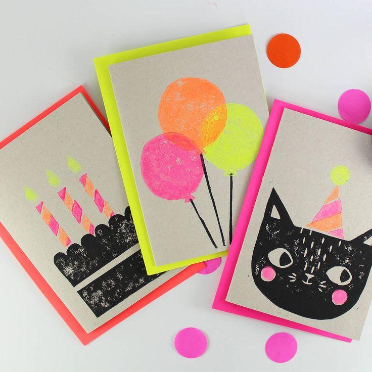 Hand Printed Card Set