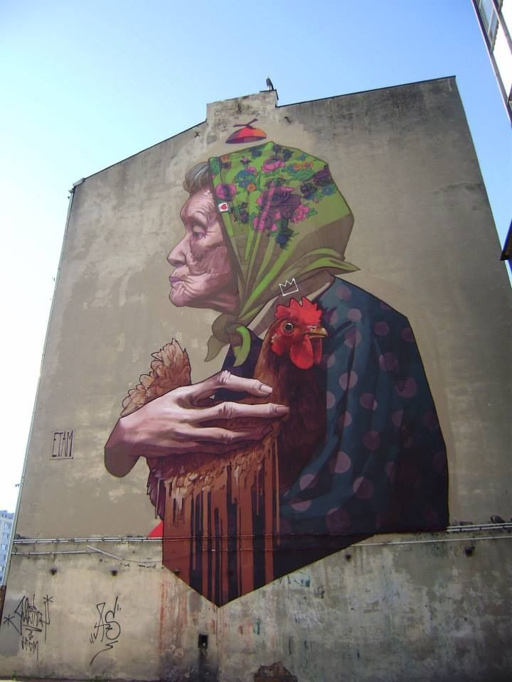 Street art in Łódź