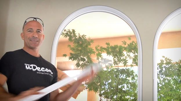 How to install molding around arches - uDecor DIY Learning Center One amazing trick that makes most polyurethane flat moldings flexible.