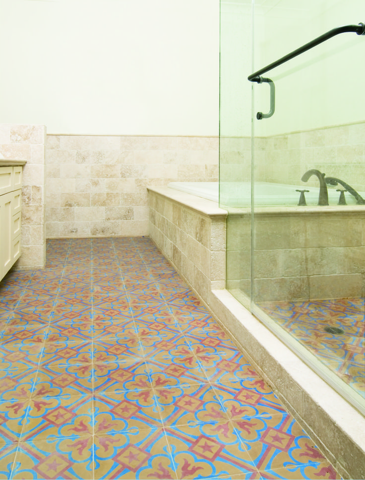 56 best images about granada tile in the bathroom on for Cement tile installation
