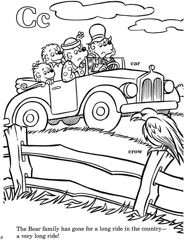 From: The Berenstain Bears® -- A Bear Country Alphabet Coloring Book