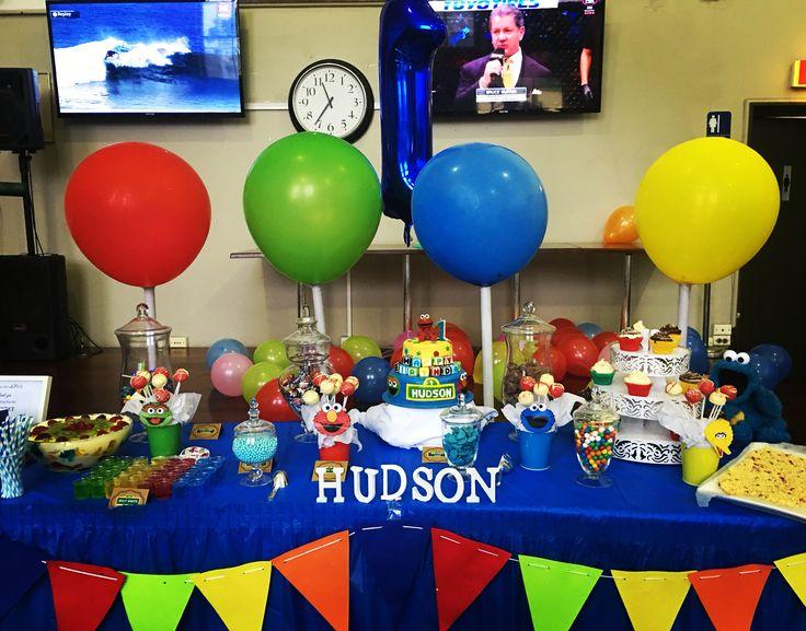 Sesame Street theme desert/candy buffet table