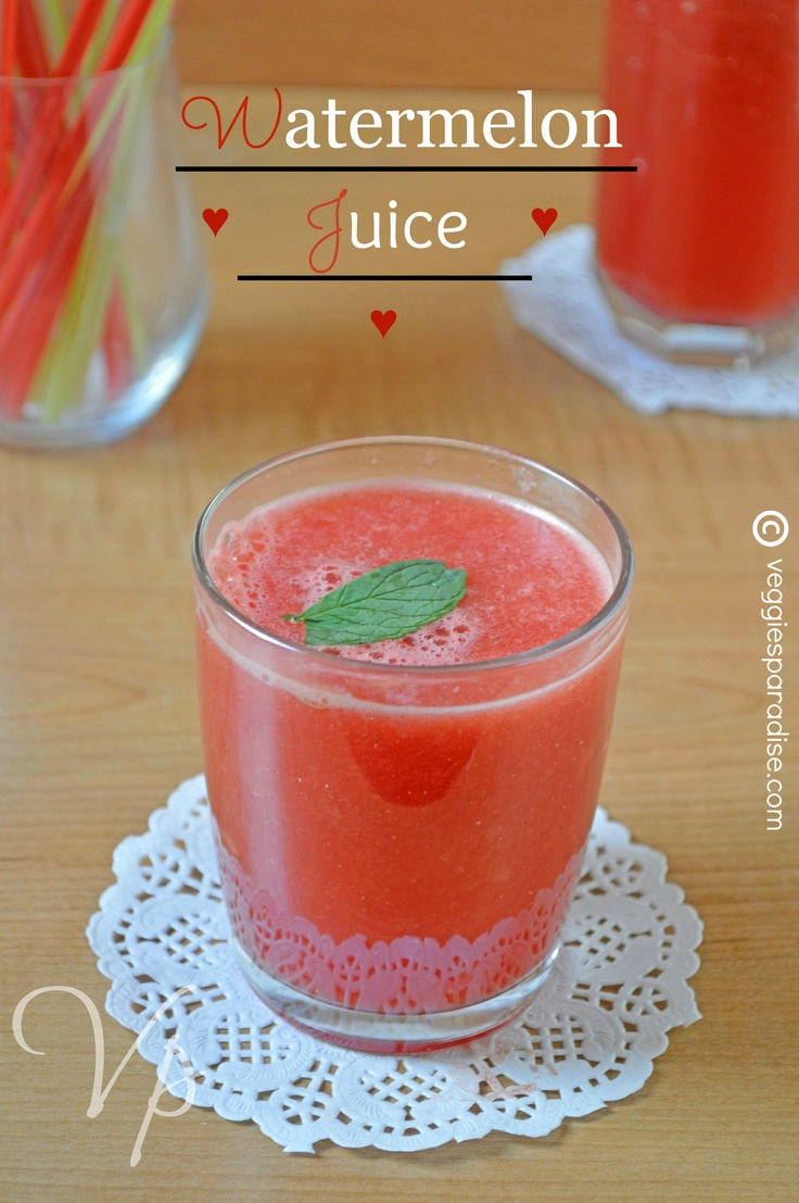 Watermelon Juice - A sweet and delicate  sugar free juice made using watermelon , is definitely a wonderful  thirst-quencher for this climate.