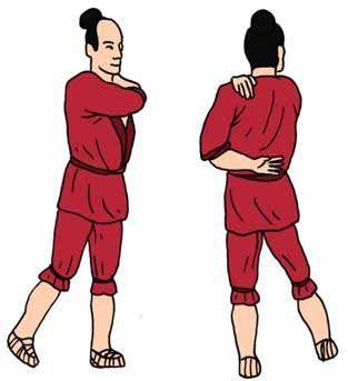 palmear pecho y zona lumbar con las palmas ahuecadas, el impulso procede de la cintura, activa la puerta de la vida o migmen 4 dm, mejora la...