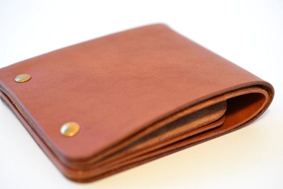 Personalized wallet Unisex unstitched leather bifold by Jemariku