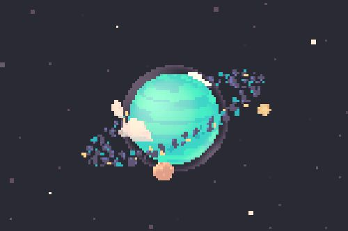 Doing some sprite work for a secret thing inspired by arcade games about space. (via cloudmelts)