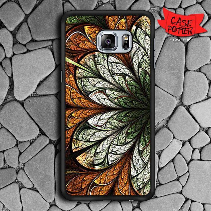 Mandala Flower Samsung Galaxy S6 Edge Plus Black Case