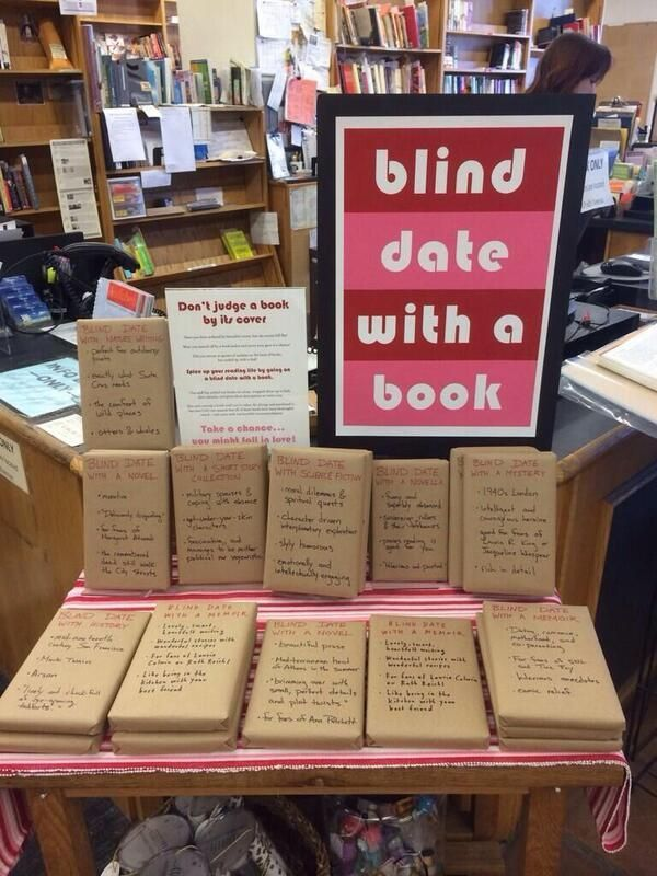 Blind Date with a Book - Love this idea! I could see a teacher assigning a book report this way!