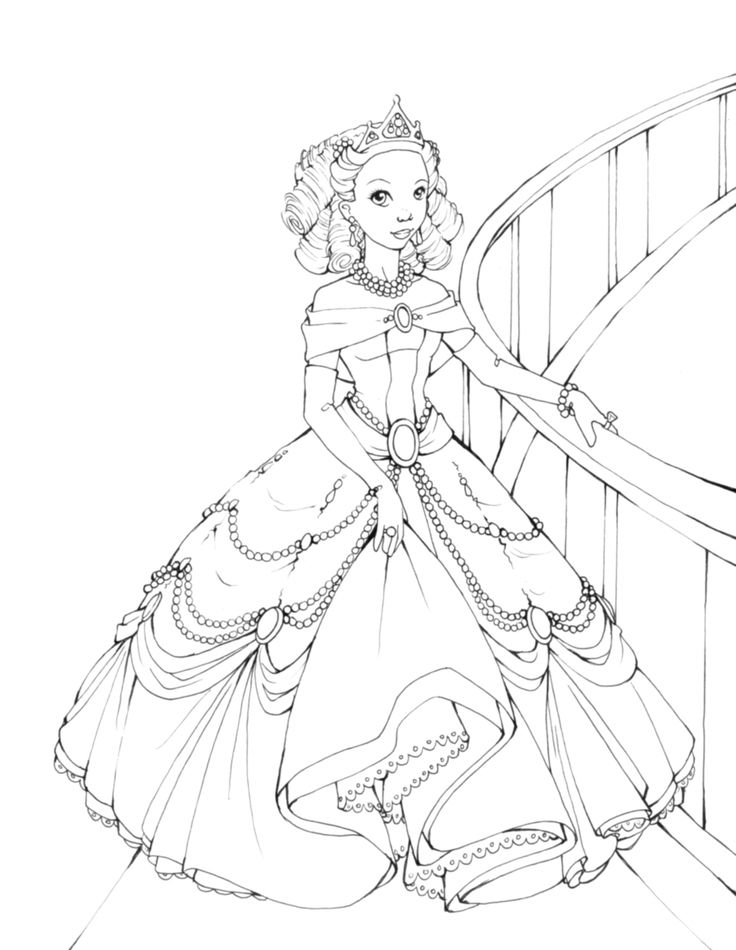 Princess Genevieve Coloring Page With