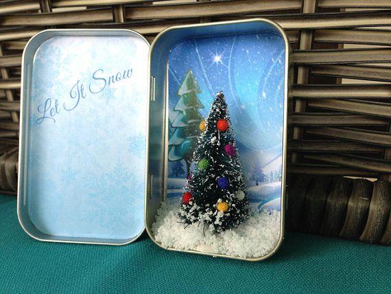 Pocket Christmas.  Miniature Christmas Scene by CorbanCreative, $8.00
