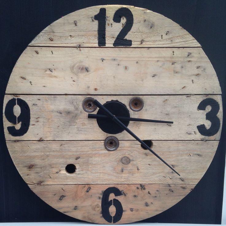 Haspel haspelklok klok cijfers zwarte wijzers