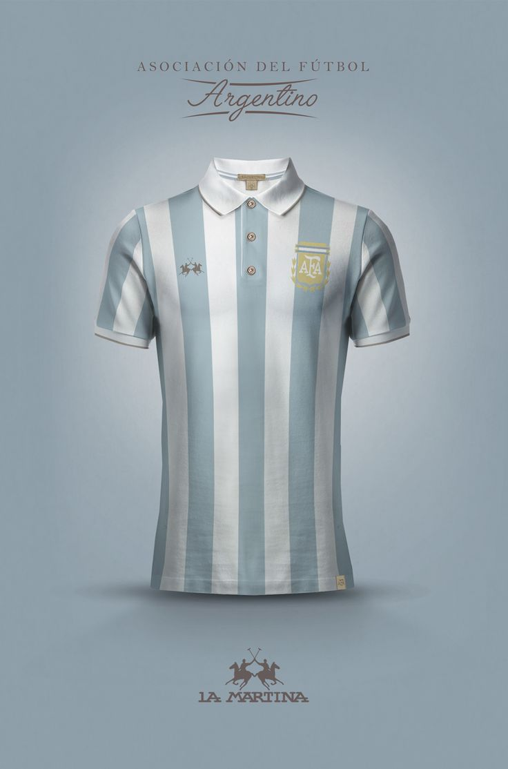 Concept of national football kits designed by fashion brands.