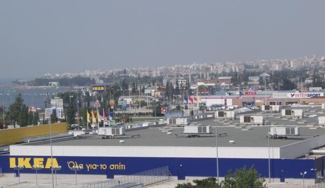 ΙΚΕΑ Θεσσαλονίκης - θερμοϋγρομόνωση μεταλλικής στέγης και δωμάτων (1997)