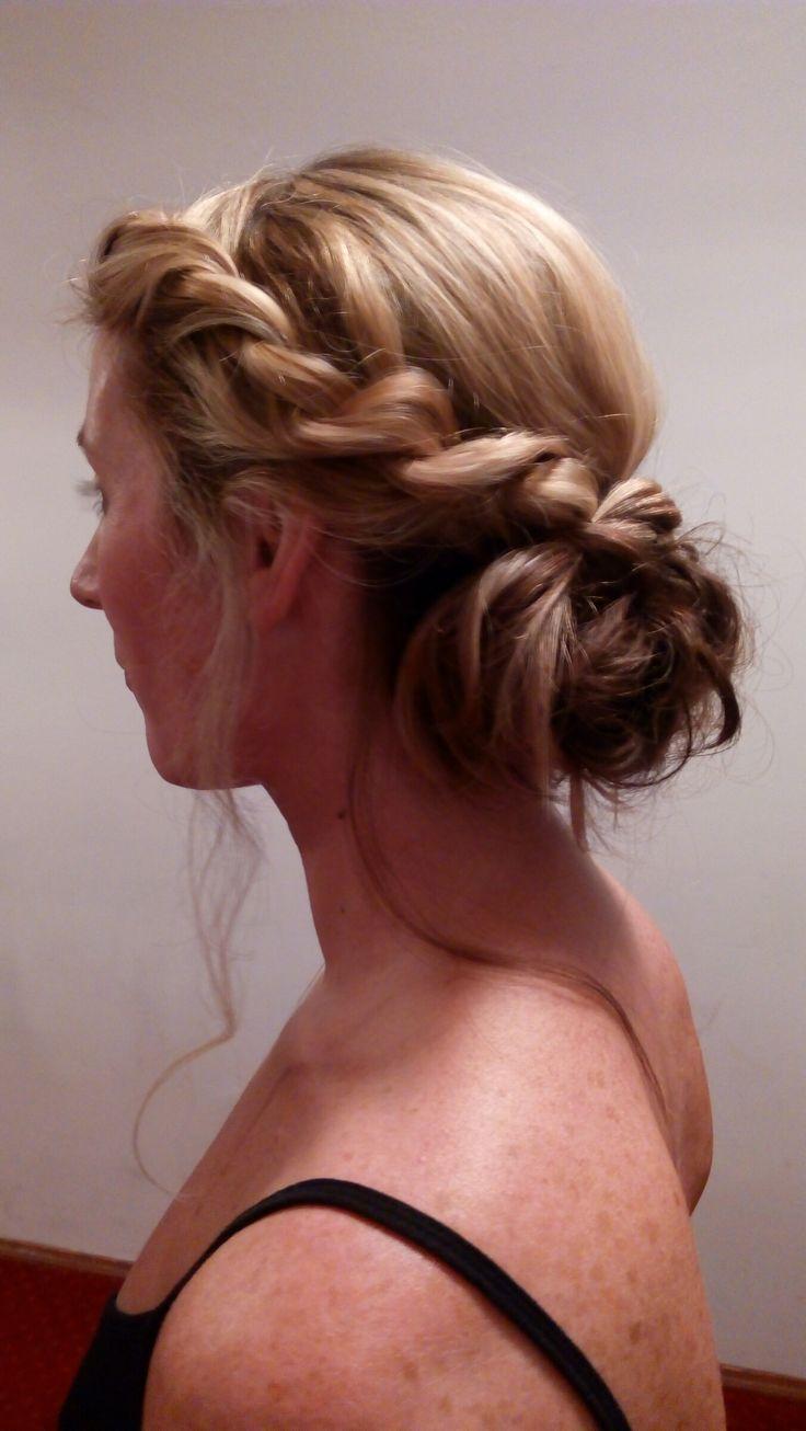 Romantic wedding greek style chignon #messy bun #french twist #Prague MUA Jitka Novotna / www.jitkanovotna.com