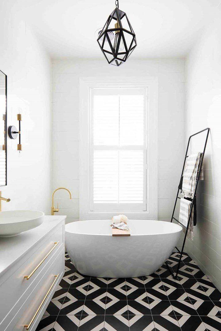 10 Tips To Revamp Your Bathroom At A Low Price In 2020 Black Bathroom Free Standing Bath Tub