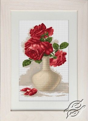 Red Roses - Cross Stitch Kits by Luca-S - B506