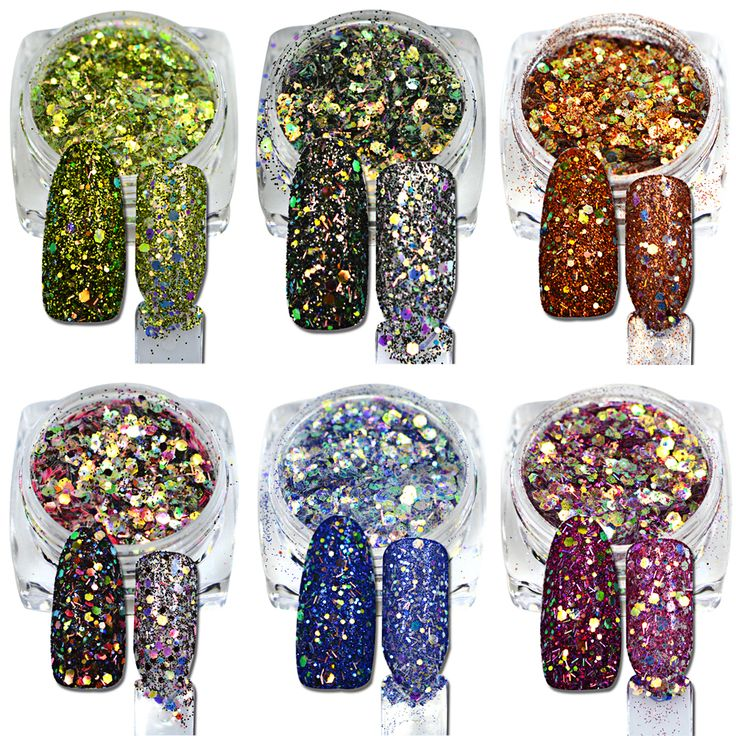 Buy 1Pcs New Arrival Hexagon Shape Mixed Color Nail Art Glitter Pigment 3D Beauty Polish Tips For Nail Art Decoration T25-31 at JacLauren.com