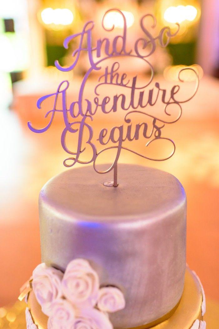 Peach & Pink Sikh Wedding at Viaggio Winery {California} - The Big Fat Indian Wedding  #weddingcake #caketopper #silvercake #weddingcakeideas #weddingdesserts