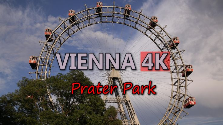 Ultra HD 4K Vienna Austria Prater Amusement Park Ferris Wheel Travel Sights UHD Video Stock Footage