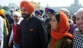 Amritsar (Punjab) - Cricketer turned politician Navjot Singh Sidhu's wife said on Tuesday that Punjab Chief Minister Parkash Singh Badal would be happy if she and her husband left the state, adding that he cannot accept any person working better than his son.