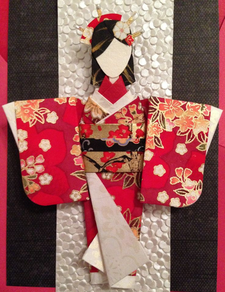 Origami Japanese Paper Doll - made using the below ...